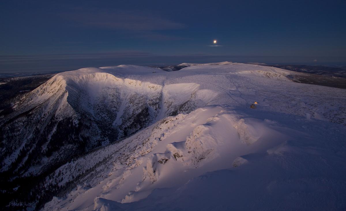 Śnieżka, panorama ze szczytu