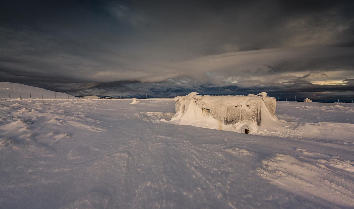 Zima na stokach Luční hory
