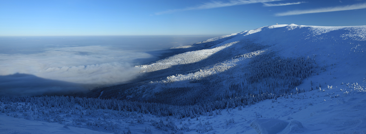 Panorama Karkonoszy ze Szrenicy