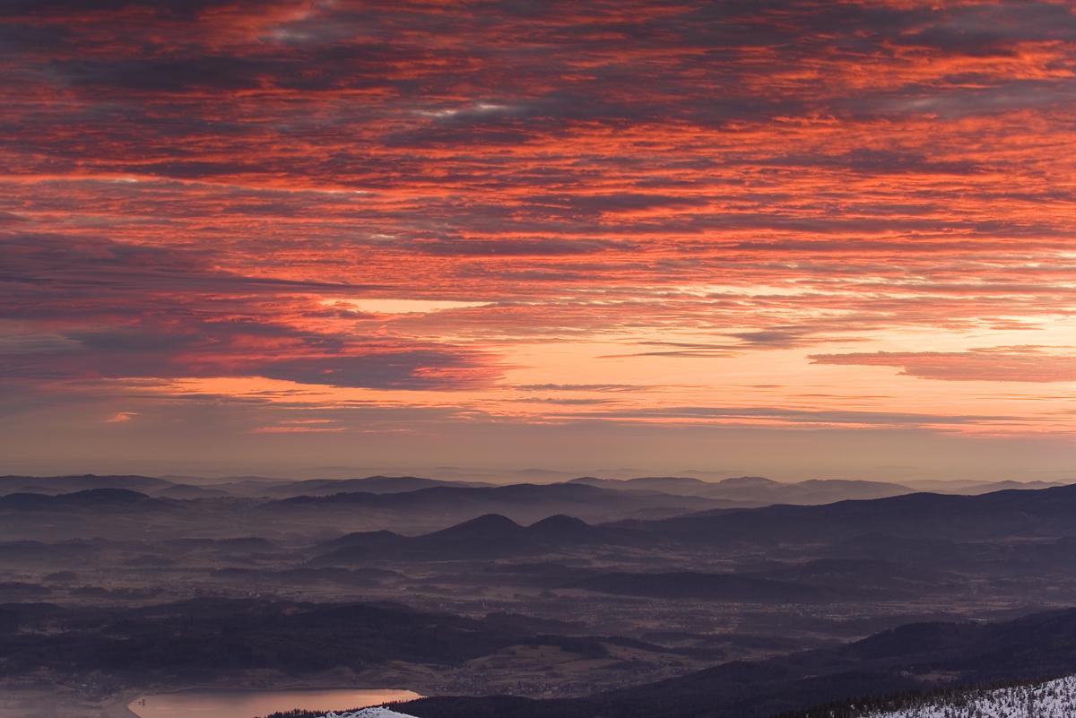 Wielki Szyszak, panorama ze szczytu