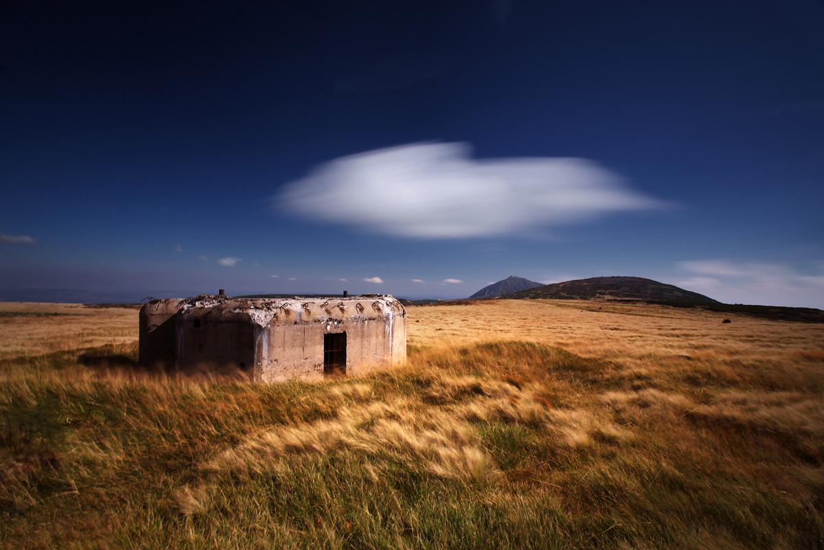 Bunkier řopík na stokach Luční hory