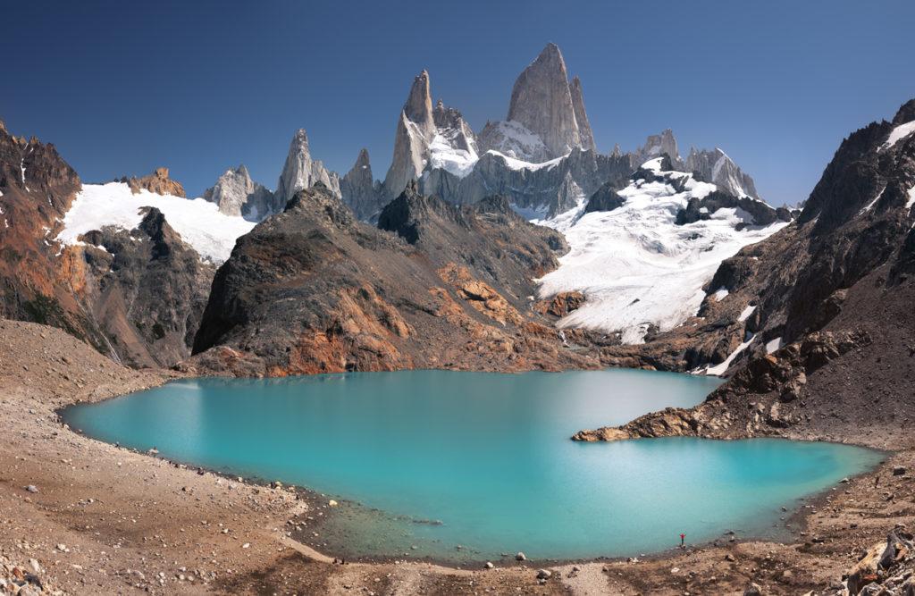 Patagonia, góry krajobraz, argentyna chile, jezioro