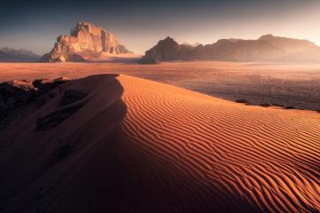 Wadi rum desert pustynia