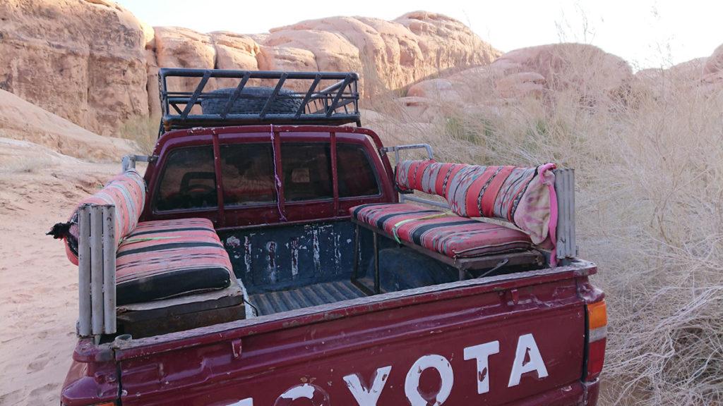 Wadi Rum Tour Jordania Toyota