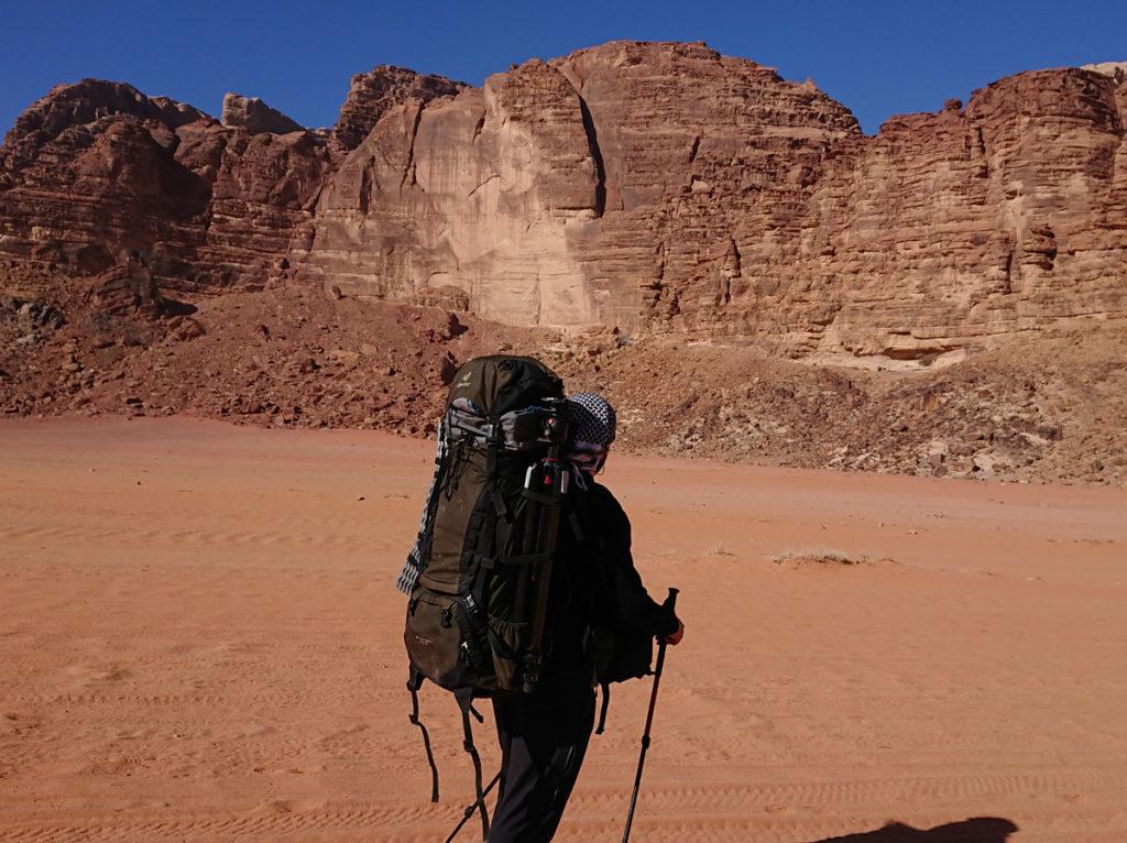 Wadi Rum Jordania  plecak