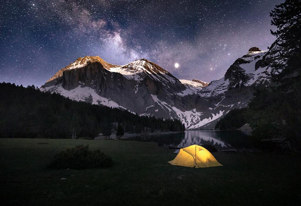 góry biwak noc