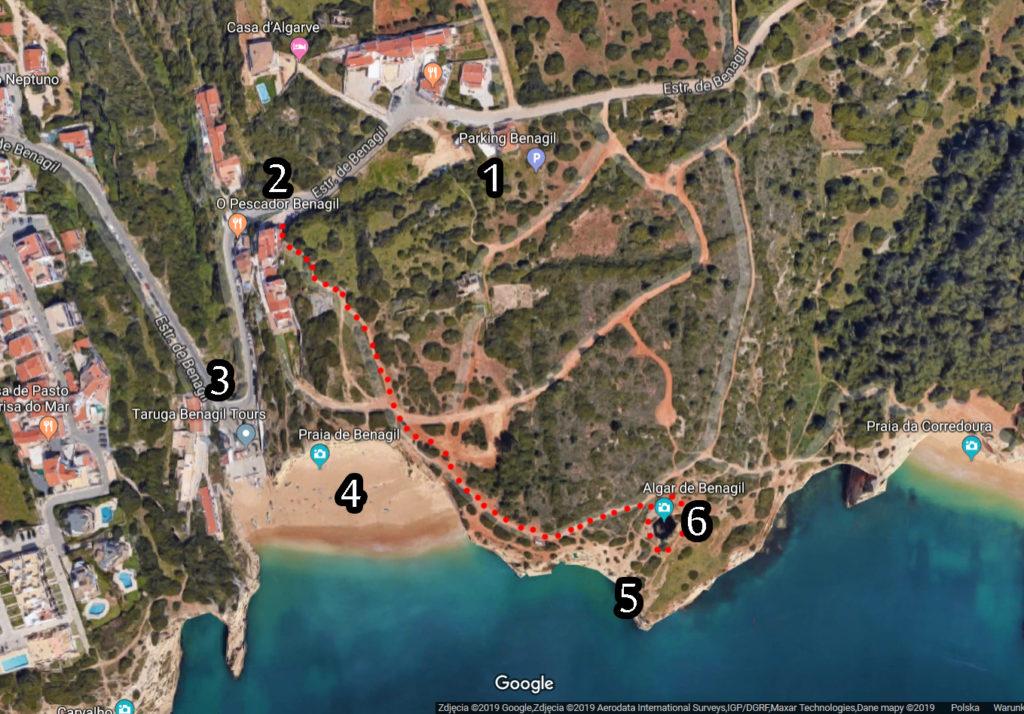 portugal jaskinia benagil