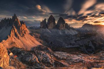 tre cime di lavaredo góry mountains dolomites