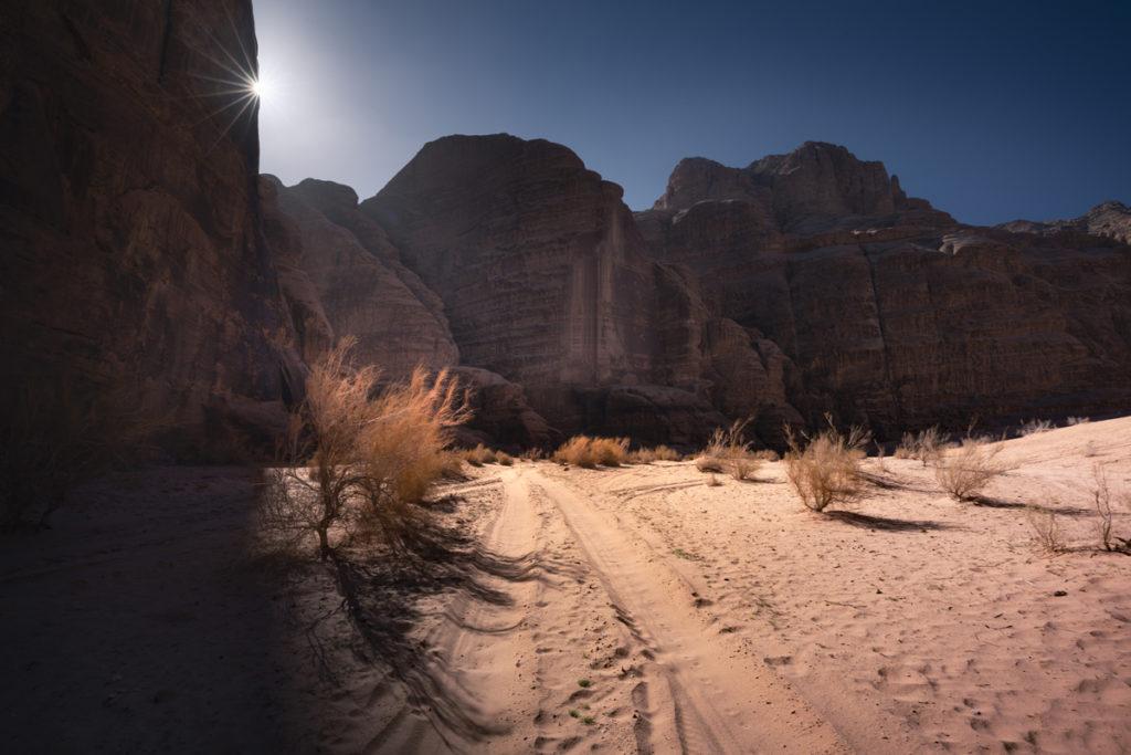 Wadi Rum pustynia Jordania kanion burrah